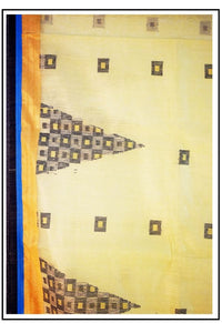 Pure Kolkatta Cotton Silk Handloom Saree