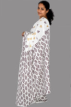 Load image into Gallery viewer, Pure White Cotton Handloom Saree