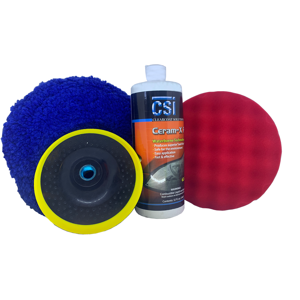 CSI 62-610 Low Lint Blue Wool Buffing Kit-