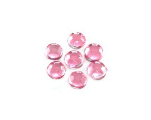 100 Brillantini Nail Art tondi mm 1,3 rosa