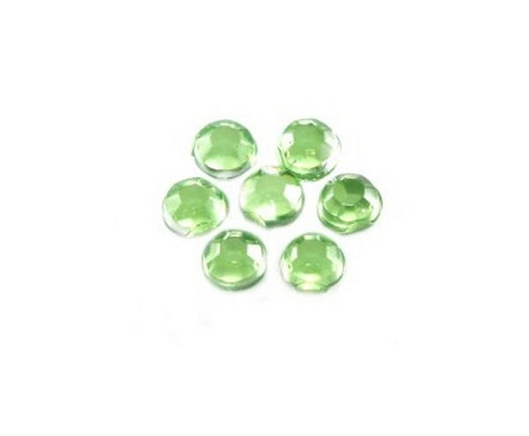 100 Brillantini Nail Art tondi mm 1,3 verde