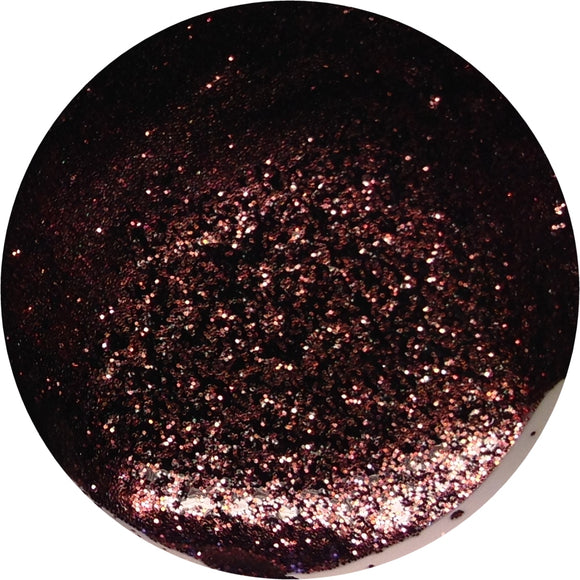 Brown glitter - Unghie Mania UV gel polish G120