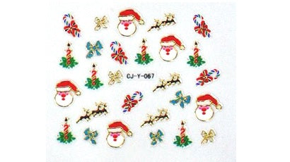 Stickers ADESIVI N52 - Babbo natale, candele