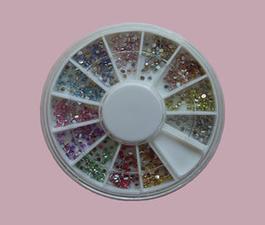 Ruota 600 brillantini tondi AB 1,5 mm