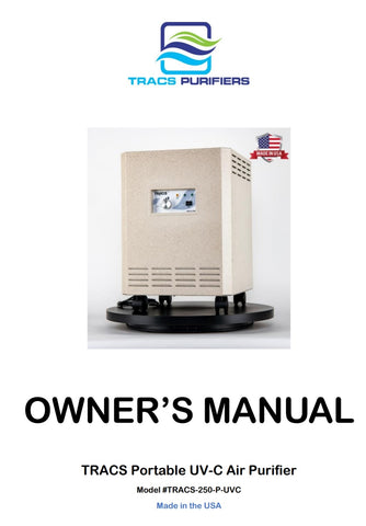 TRACS commercial portable air purifier owners manual