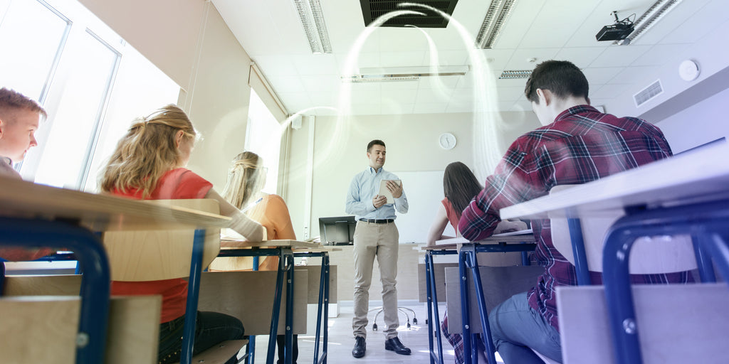 the centrally mounted air purifiers in the classrooms will be most effective in Covid times