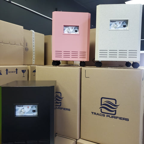 tracs air purifiers come in custom colors because we they are manufactured in the USA