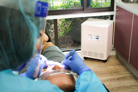 tracs uvc air purifier for dentists offices
