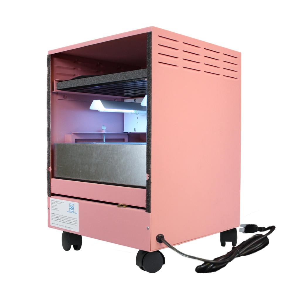 photo of a pink air purifier manufacturer in the usa