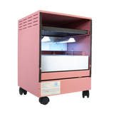 photo of a pink uvc and hepa air cleaner manufactured in the usa