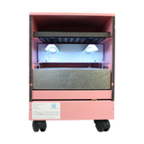 photo of a pink uvc and hepa air purifier cleaner