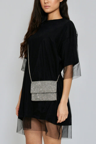 Silver Envelope Mobile Bag