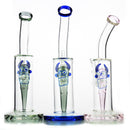 "10"" Glass Bong with Ghost Face Perc Design Shower 14mm Male Bowl Included 410 Grams"