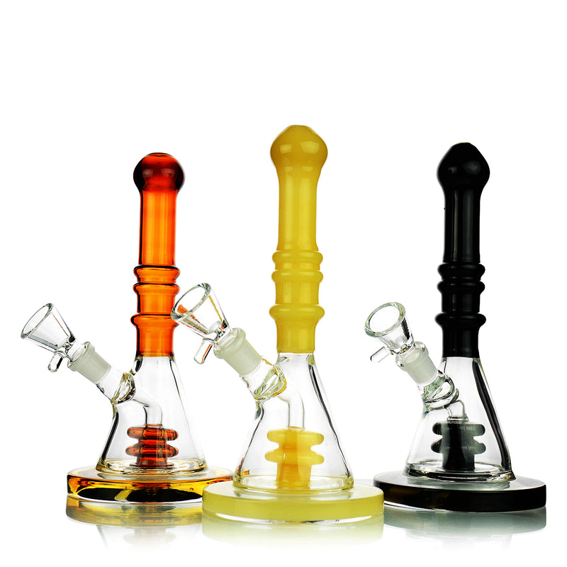 "8"" Sleek Rocket Bong with 14mm Male Bowl Included"