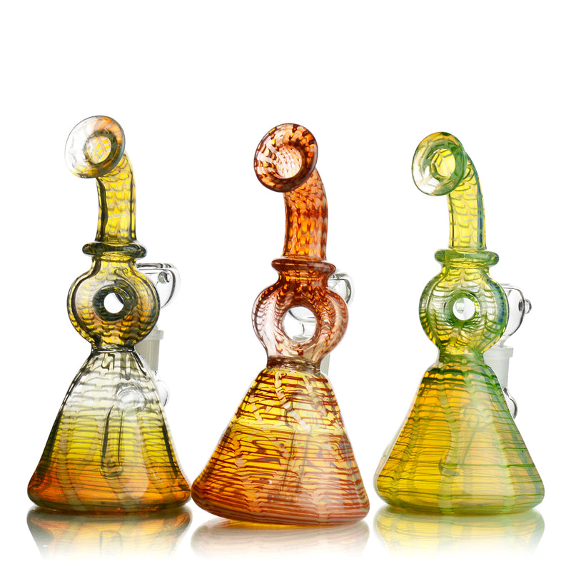"7.5"" Donut Neck Fancy Bong 14mm Male Bowl Included Approx 225 Grams"
