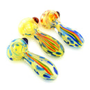 "4.5"" Hand Pipe Rasta Line Fume Glass Approx 155 Grams"