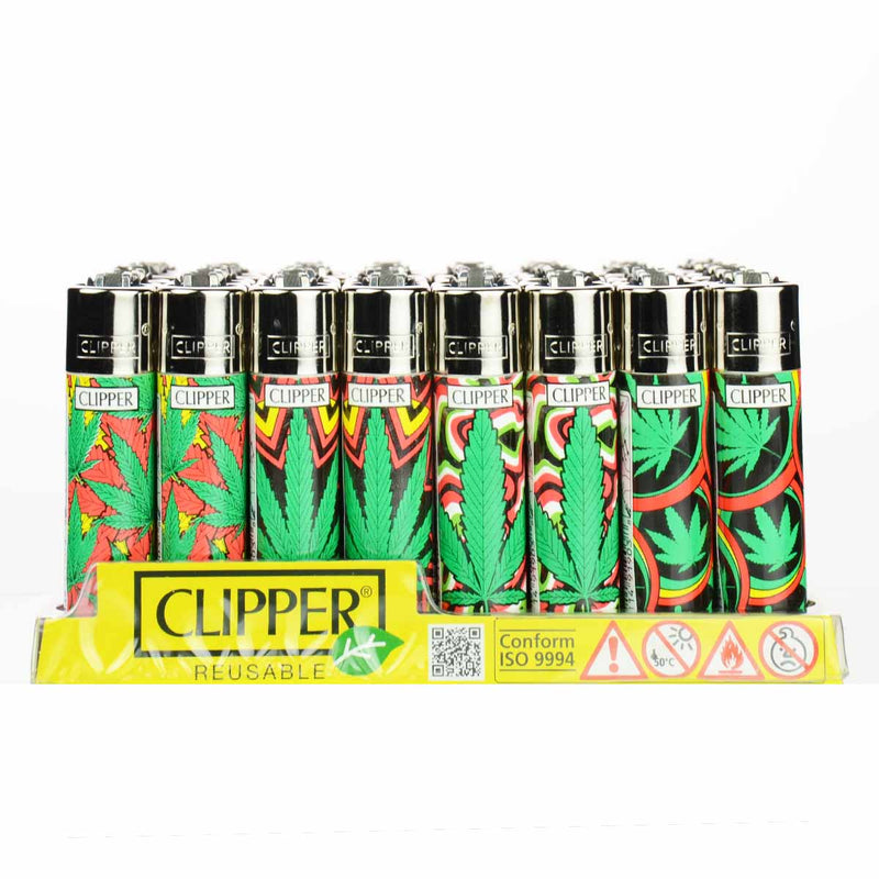 Clipper Leaf Design Lighter 48ct per Display