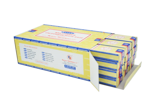 CALIFORNIA WHITE SAGE INCENSE SATYA NAG CHAMPA