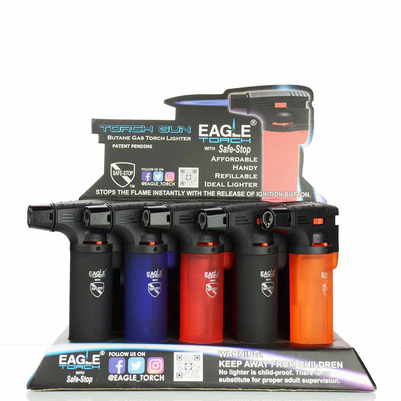 Eagle Torch Gun Lighter 15 Torches per Display