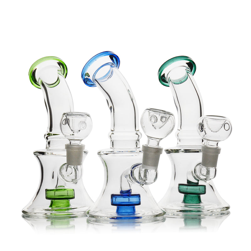 "7"" Bong Metrix Shower Bent Neck 14mm Male Bowl Included Approx 210 Grams"