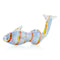 "5"" Fish Design Hand Pipe Color Twisting Lines Approx 90 Grams"
