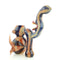 "10"" Bubbler Marble Color Design Dragon Face with Horns Approx 390 Grams"