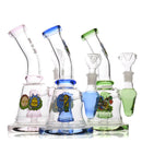 "8"" Water Pipe bong Color Shower and Socket 14mm Male Bowl Approx 285 Grams"
