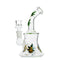 "7"" Conical Sticker Bong with Weed Leaf Stickers 14mm Male Bowl Included"