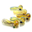 "3.5"" Hand Pipe Inside Twist with Fumed Glass"