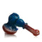 "7"" Hammer Bubbler Double Color Frit Approx 150 Grams"