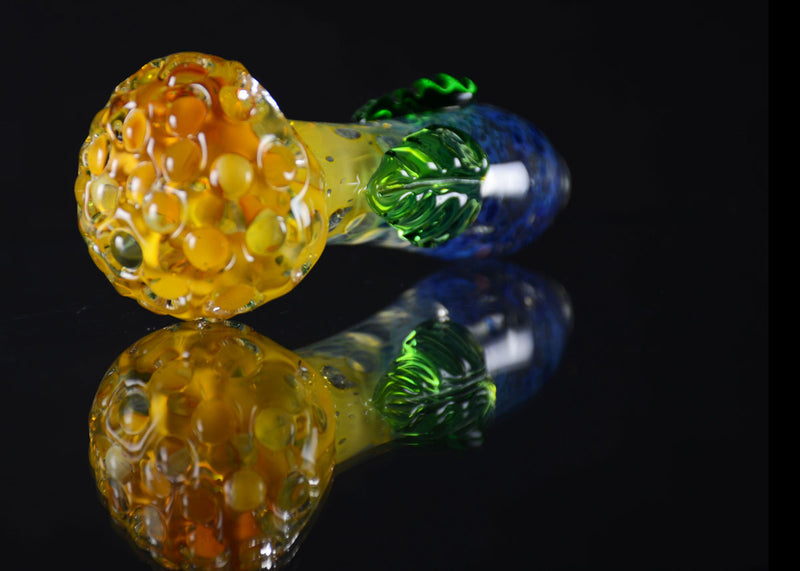 "4.5"" Double Leaf colored hand pipe"
