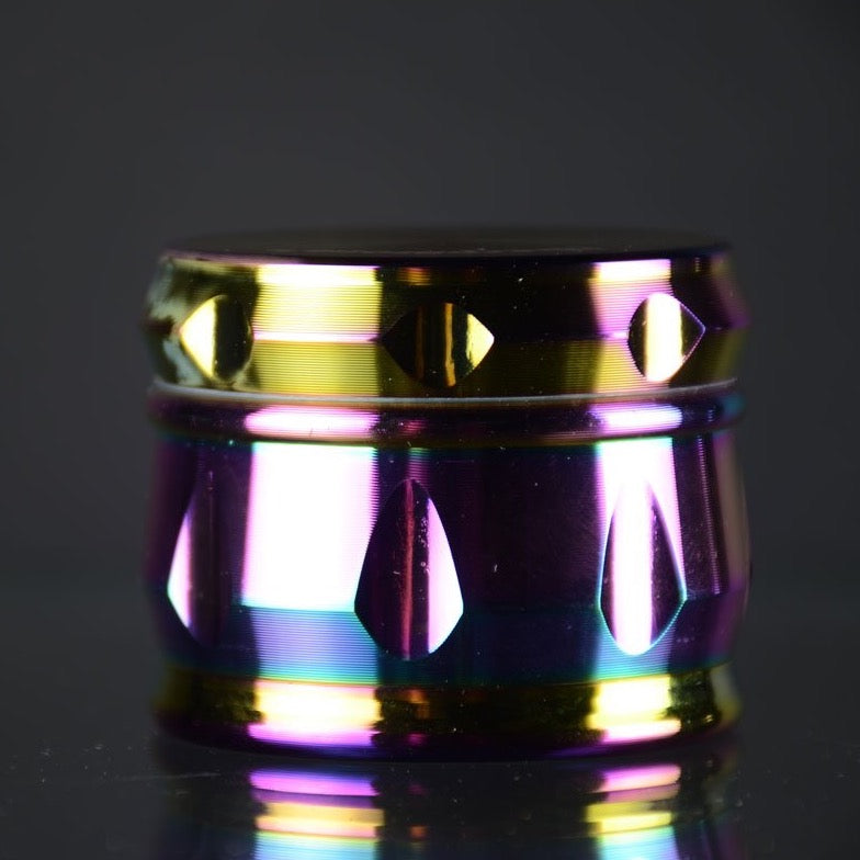 Rainbow cut design style Metal Grinder 52mm