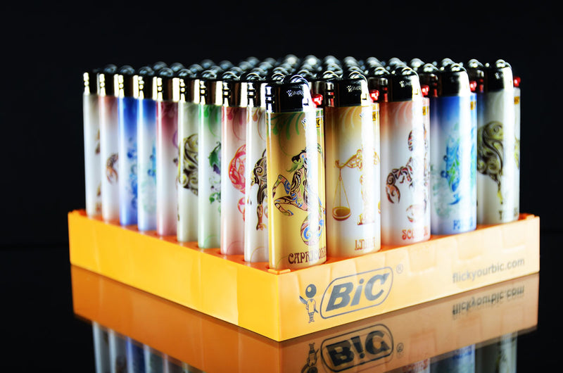 Bic Astrology Design Flint Lighter Display 50ct