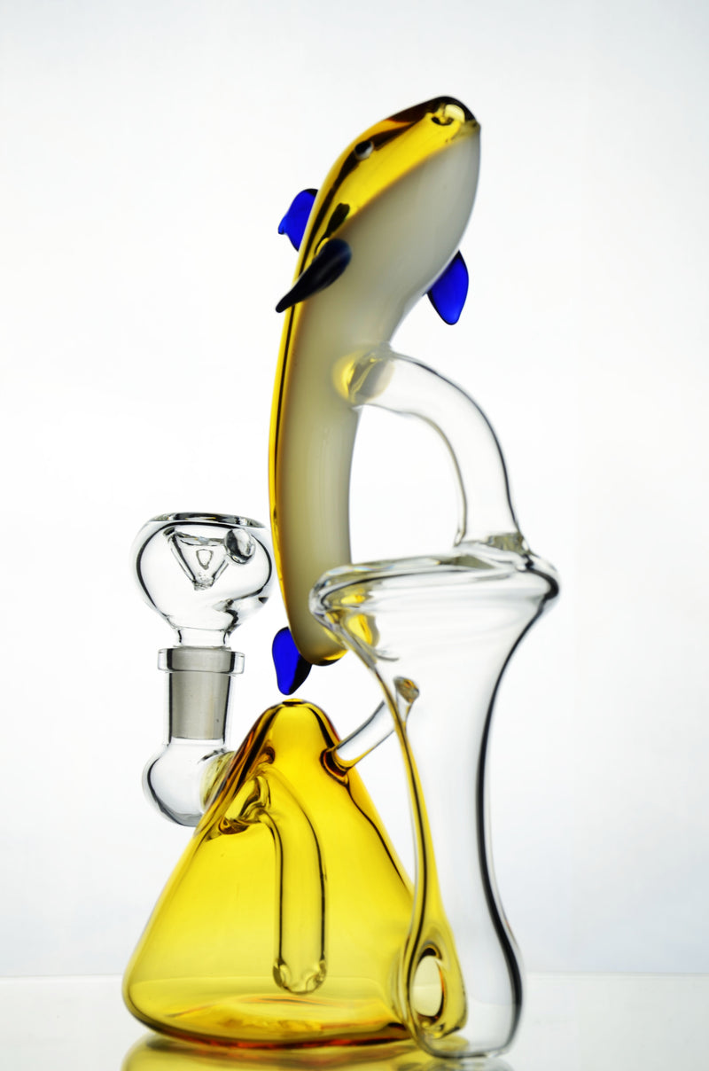 "8"" Dolphin style Recycler bong Water Pipe"