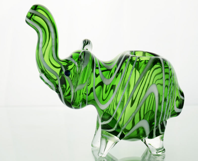 Elephant hand pipe in color tube