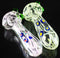 "4.5"" Hand Pipe Heavy Glass with Flower Art"