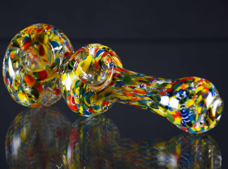 "4.5"" Double Bowl color Frit hand pipe"