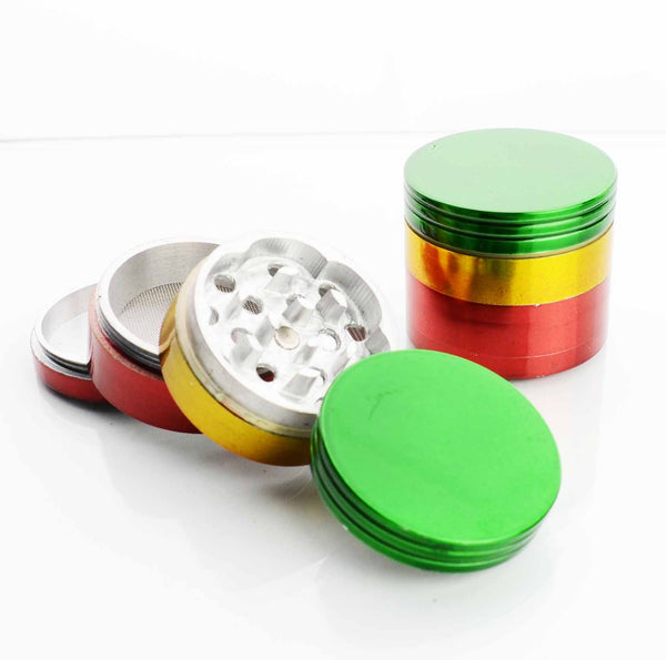 42MM  Metal Rasta Colored Grinder