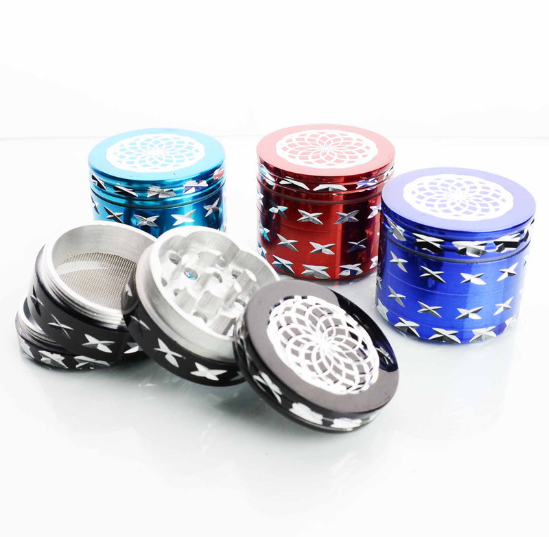 42MM Metal Plain Colored Grinder Diamond Cut