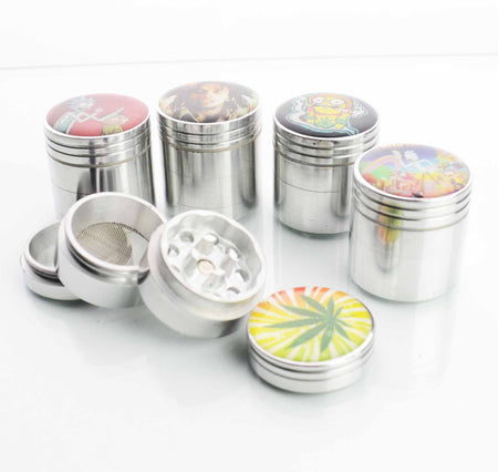 32MM  Metal Silver Grinder with Sticker