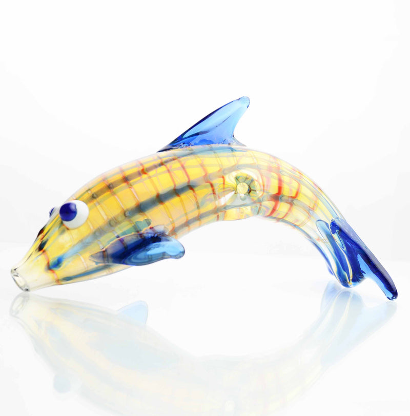 "5"" Hand Pipe Dolphin Fancy 140-150 Grams"