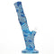 "14"" Silicone Water Pipe Straight Shooter  with Printed Designs"