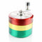 62MM Rasta Color Grinder Four Part  with Handle