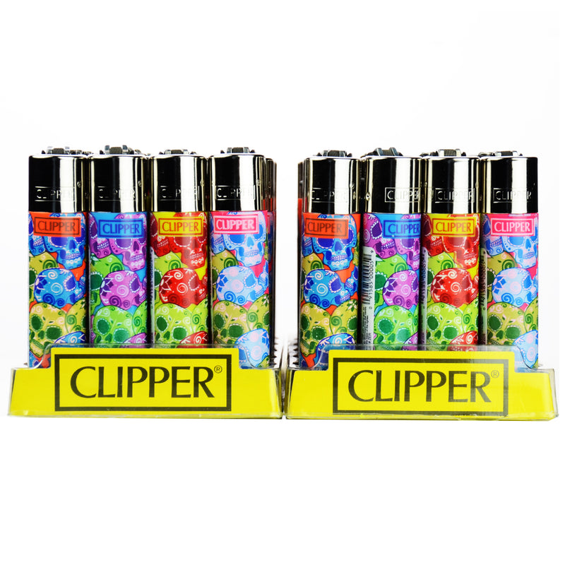Clipper Lighters Flint Lighters Display 48ct Scull