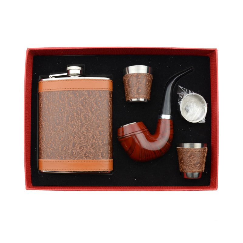 Drink Set with Hand Pipe and Two Mini Shots