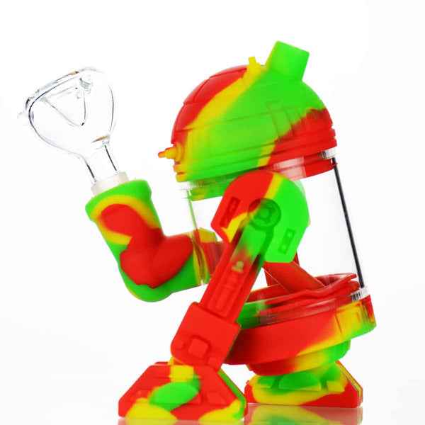 "6"" Robot Water Pipe with 14mm Male Bowl"
