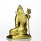 "7"" Pure Brass Lord Shiva Statue Golden Sculpture  2.13  lb Weight"
