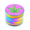 50MM Grinder Rainbow color with Leaf