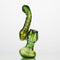 "8"" Bubbler Heavy Gold Fume Marble APROX 275 Grams"