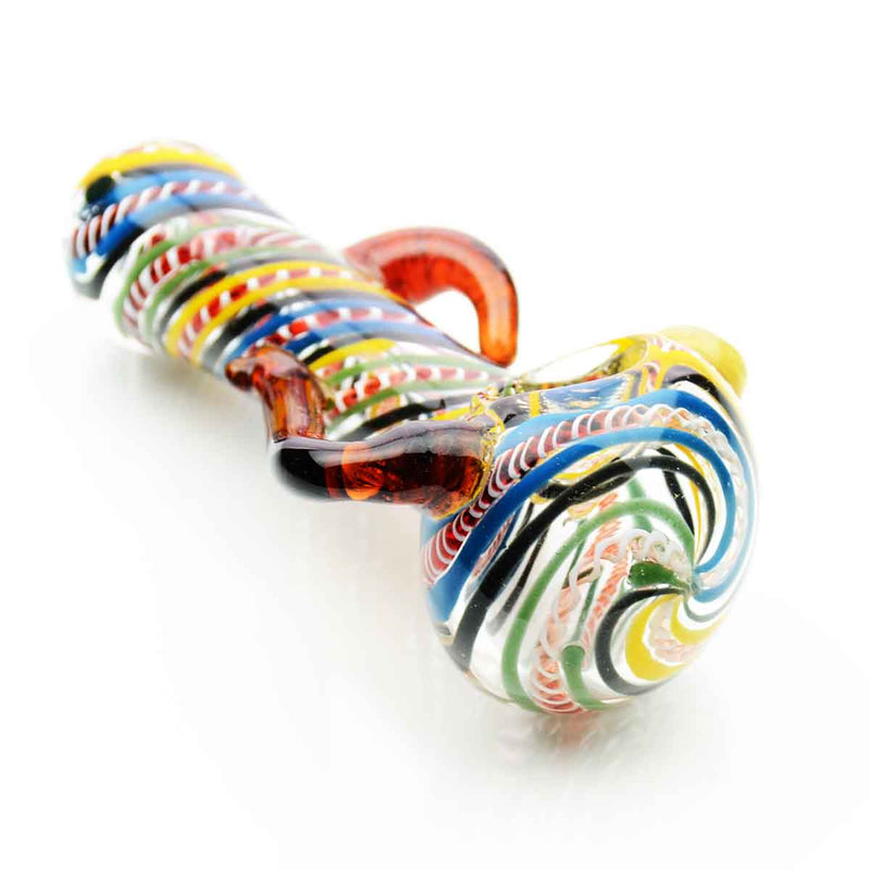 "4.5"" Hand Pipe Inside Twisting with Handle APROX 150 Grams"